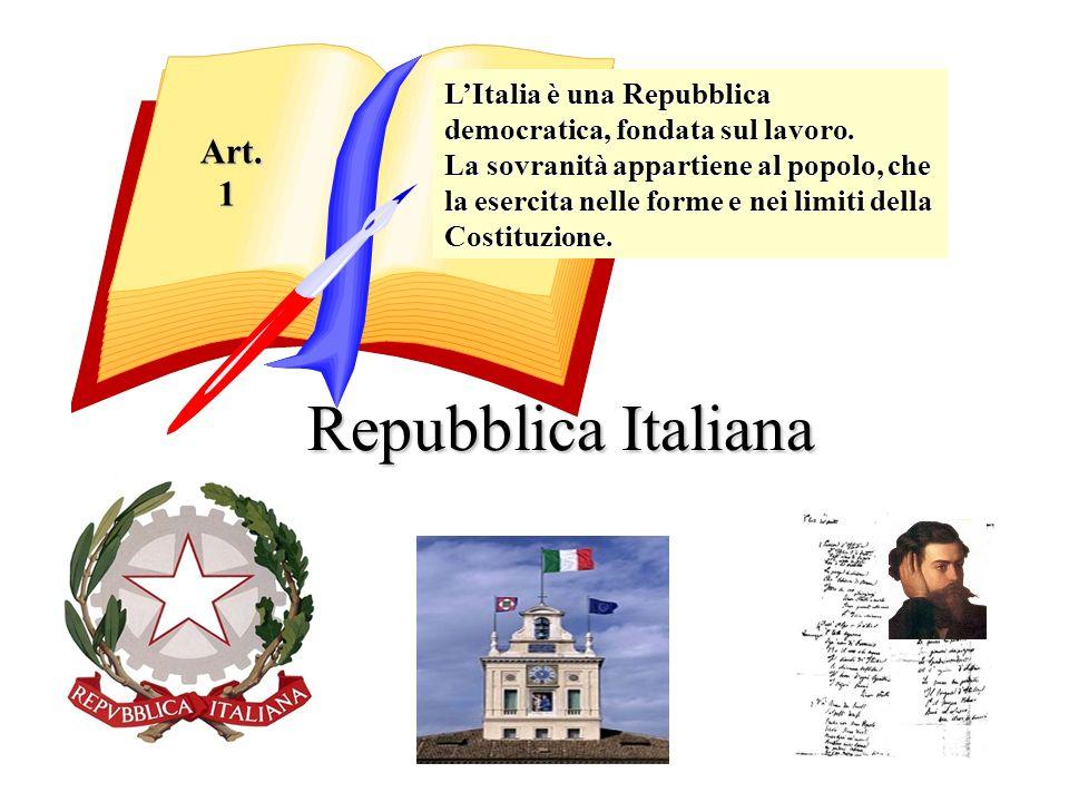 Aspesi Mg. Repubblica Italiana LItalia è una Repubblica democratica, fondata sul lavoro. La sovranità appartiene al popolo, che la esercita nelle form