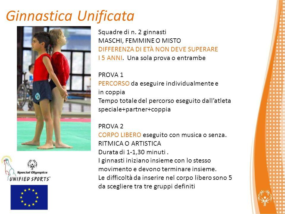 Squadre di n.2 ginnasti MASCHI, FEMMINE O MISTO DIFFERENZA DI ETÀ NON DEVE SUPERARE I 5 ANNI.