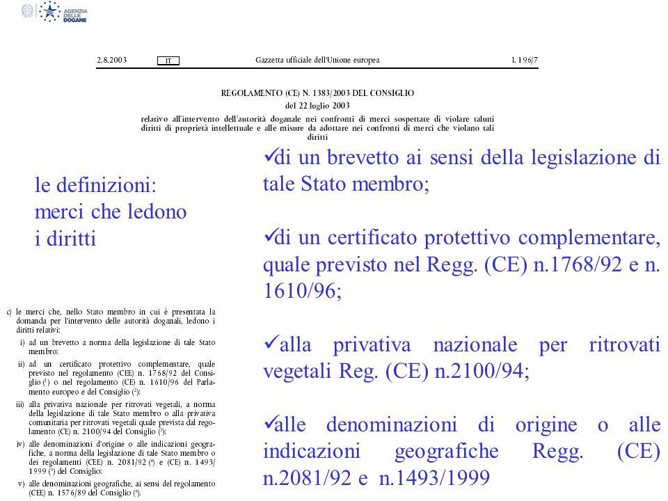 di un brevetto ai sensi della legislazione di tale Stato membro; di un certificato protettivo complementare, quale previsto nel Regg. (CE) n.1768/92 e