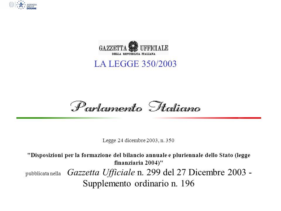 Legge 24 dicembre 2003, n. 350