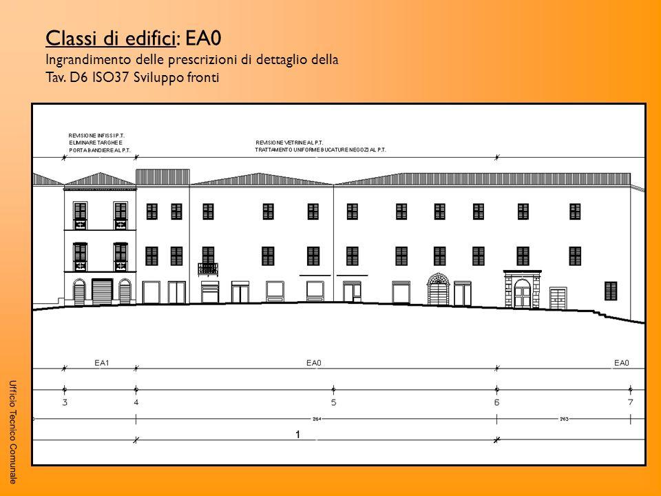 Ufficio Tecnico Comunale Classi di edifici: EA0 Ingrandimento delle prescrizioni di dettaglio della Tav. D6 ISO37 Sviluppo fronti