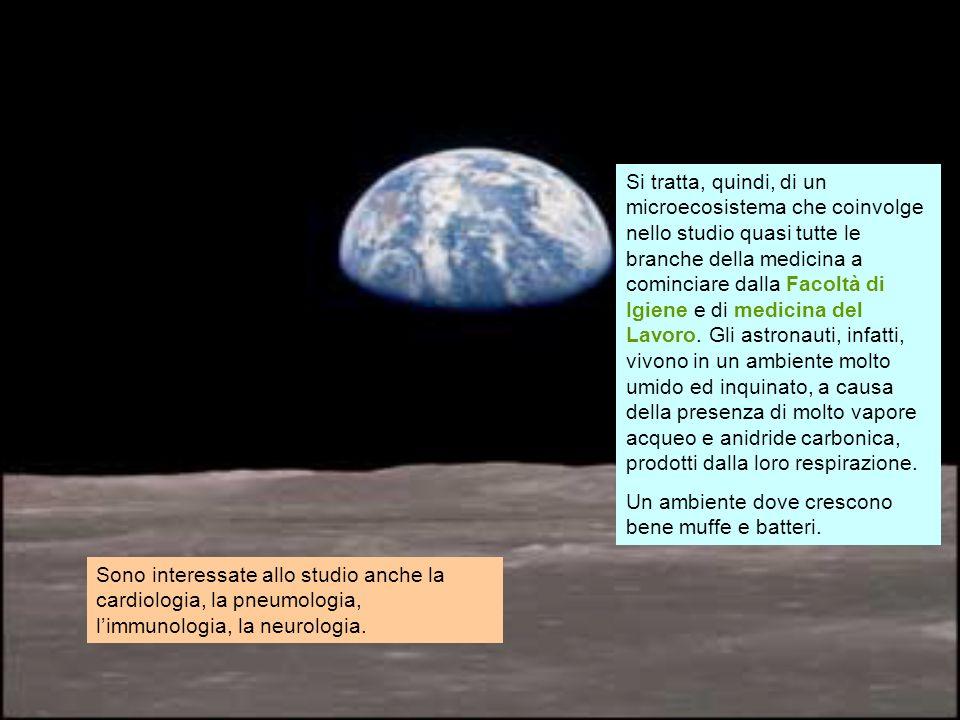 I maggiori cambiamenti, a livello dei vari organi ed apparati, durante un viaggio nello spazio, avvengono a carico di: - apparato cardiovascolare - apparato muscolare - apparato scheletrico - apparato respiratorio - apparato emopoietico - sistema immunitario - apparato riproduttore - sistema nervoso Equipaggio Apollo 11