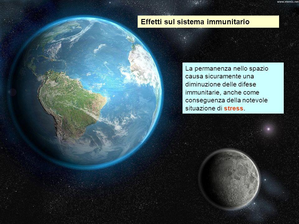Effetti sul sistema immunitario La permanenza nello spazio causa sicuramente una diminuzione delle difese immunitarie, anche come conseguenza della no