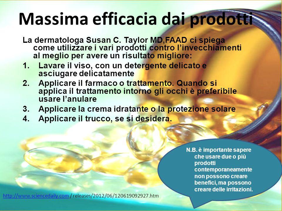 Massima efficacia dai prodotti La dermatologa Susan C.