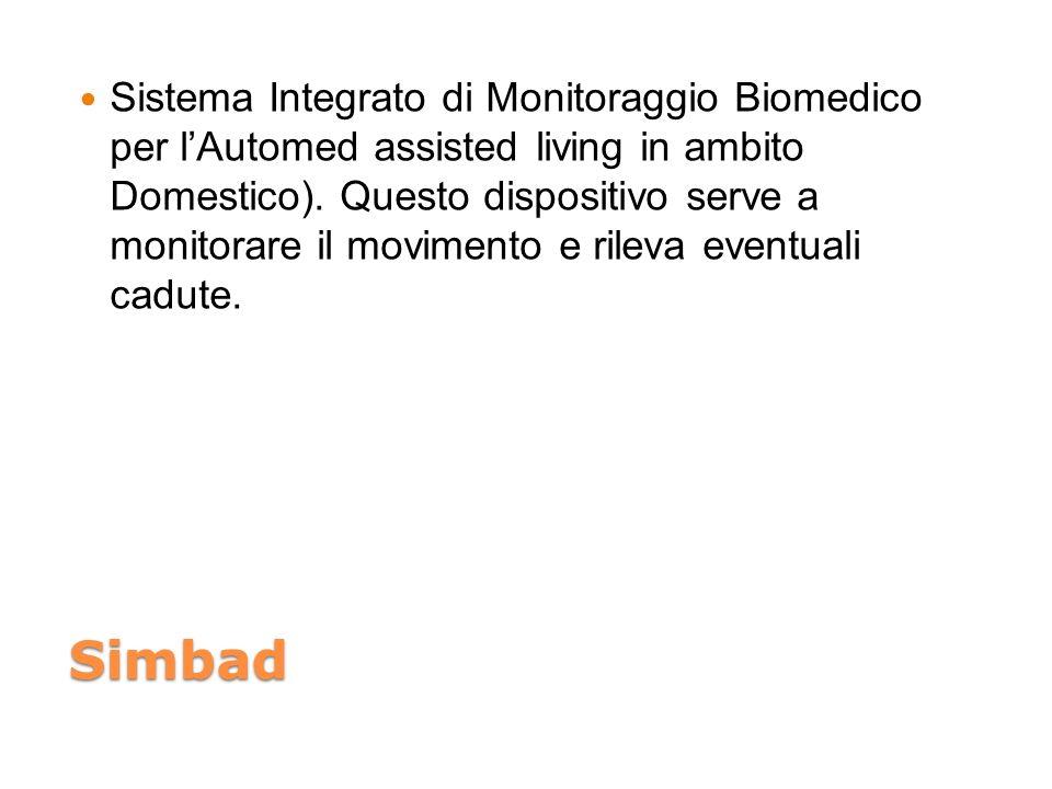 Simbad Sistema Integrato di Monitoraggio Biomedico per lAutomed assisted living in ambito Domestico). Questo dispositivo serve a monitorare il movimen