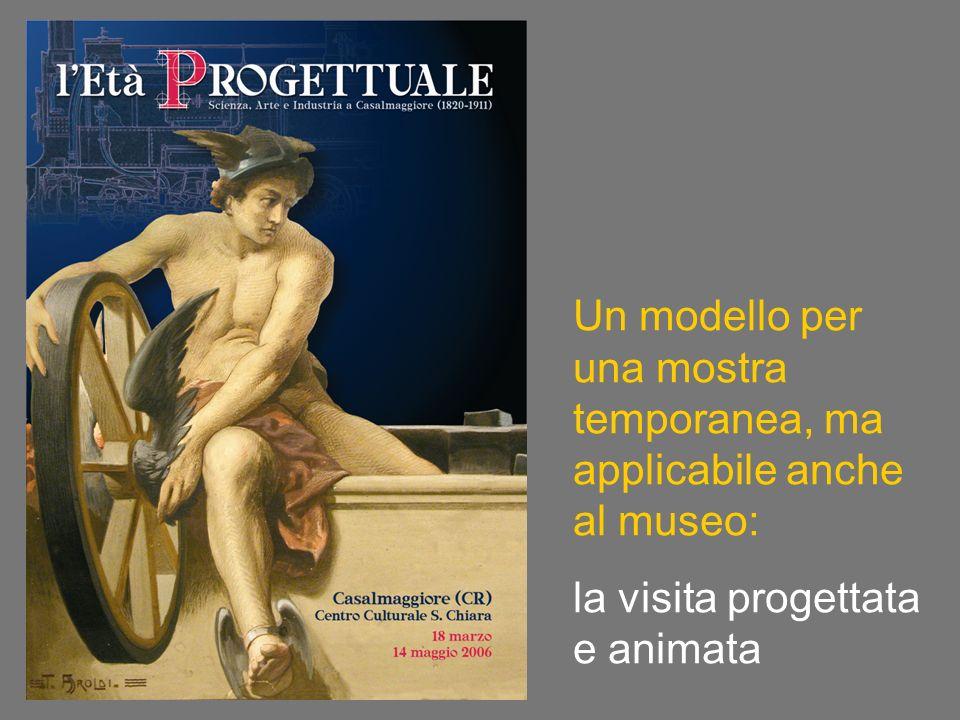 Un modello per una mostra temporanea, ma applicabile anche al museo: la visita progettata e animata