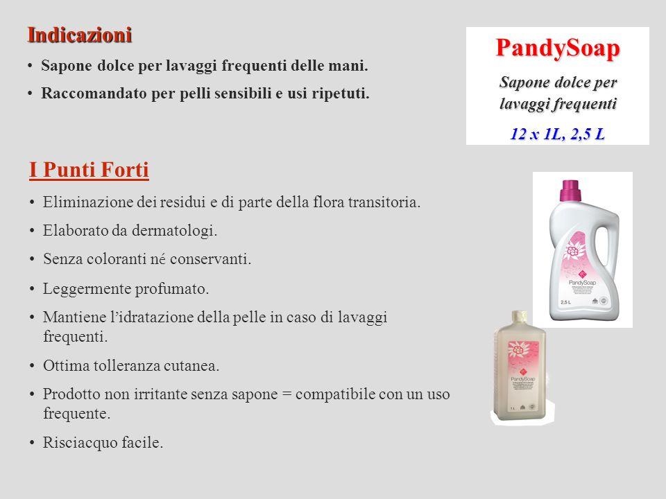 PandyBlue Gel antisettico 12 x 1L, 2,5 L Indicazioni.