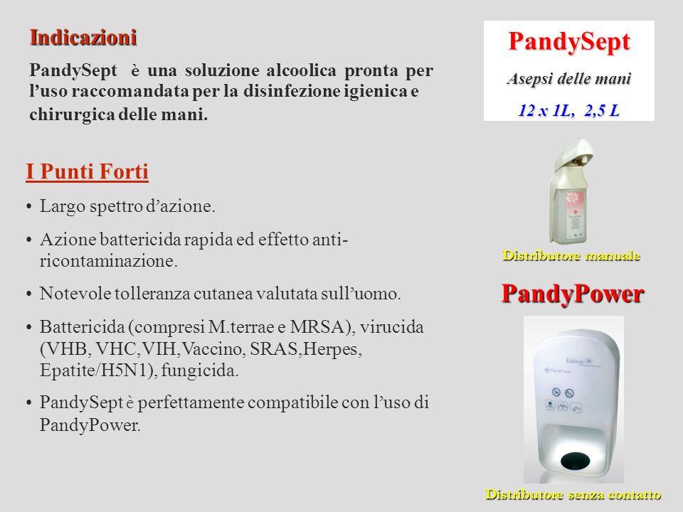 PandyGel Gel antisettico 12 x 1L, 2,5 L Indicazioni Gel idroalcoolico tixotropico che assicura un asepsi rapida dellemani.