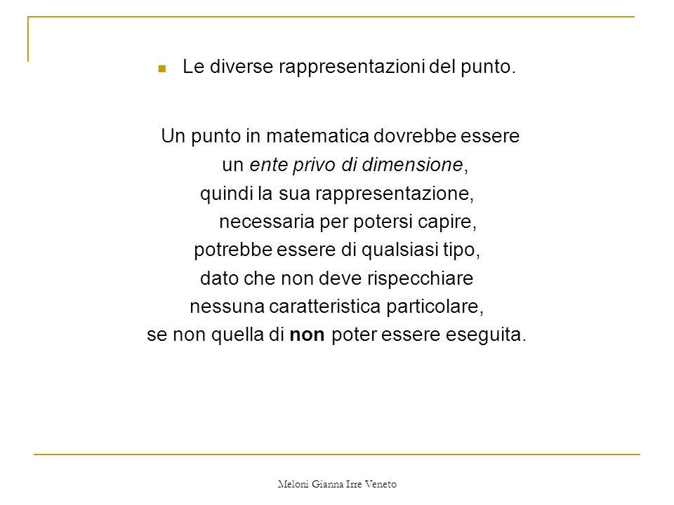 Meloni Gianna Irre Veneto Le diverse rappresentazioni del punto.
