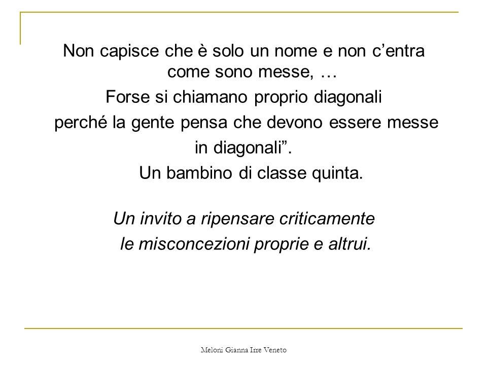 Meloni Gianna Irre Veneto Non capisce che è solo un nome e non centra come sono messe, … Forse si chiamano proprio diagonali perché la gente pensa che devono essere messe in diagonali.