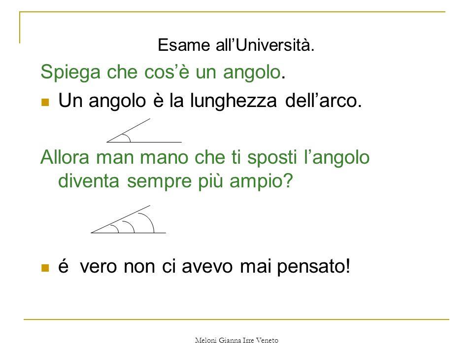 Meloni Gianna Irre Veneto Esame allUniversità.Spiega che cosè un angolo.