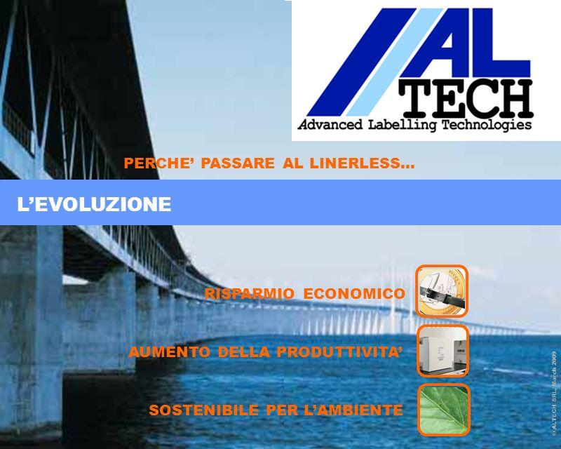 Pagina 2 © ALTECH SRL, March 2009 Page 2 RISPARMIO ECONOMICO AUMENTO DELLA PRODUTTIVITA SOSTENIBILE PER LAMBIENTE PERCHE PASSARE AL LINERLESS… © ALTEC