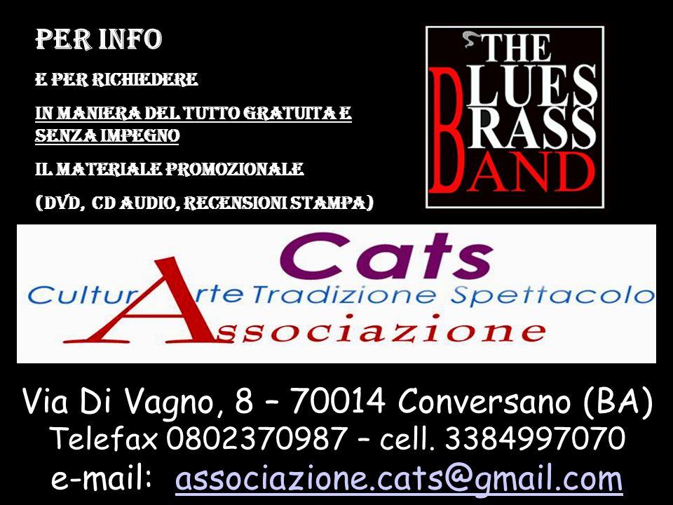 Via Di Vagno, 8 – 70014 Conversano (BA) Telefax 0802370987 – cell.