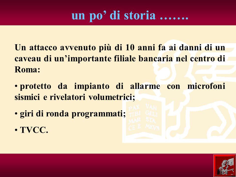 un po di storia ……. Un attacco avvenuto più di 10 anni fa ai danni di un caveau di unimportante filiale bancaria nel centro di Roma: protetto da impia