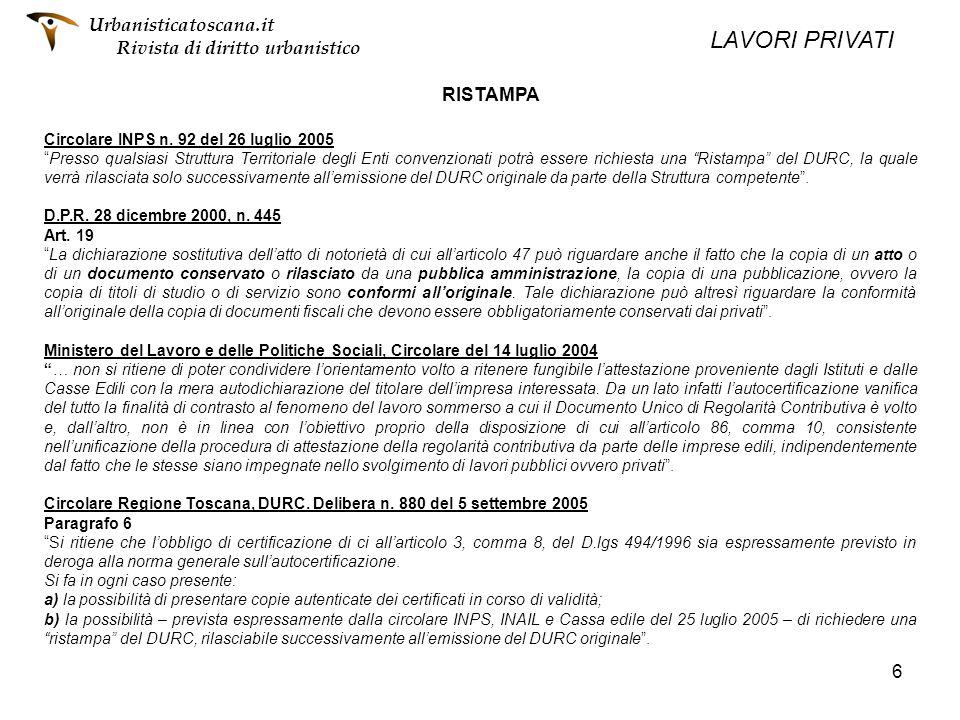 6 RISTAMPA Circolare INPS n. 92 del 26 luglio 2005 Presso qualsiasi Struttura Territoriale degli Enti convenzionati potrà essere richiesta una Ristamp