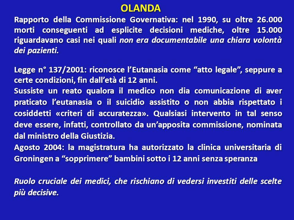 AUTODETERMINAZIONE E CONSENSO In Italia non esiste disciplina giuridica specifica del consenso al trattamento medico.