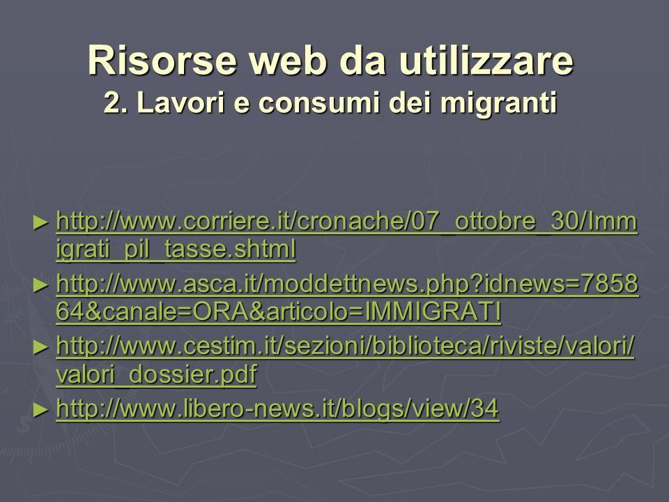 Risorse web da utilizzare 2.