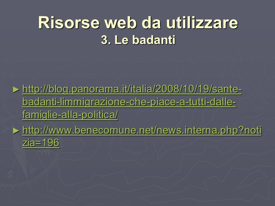 Risorse web da utilizzare 3.