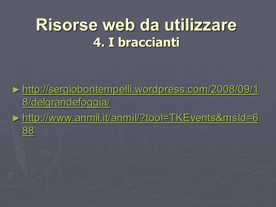 Risorse web da utilizzare 4.
