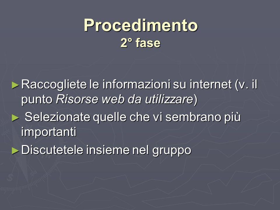 Procedimento 3° fase Create un file, titolandolo Diario del gruppo ….