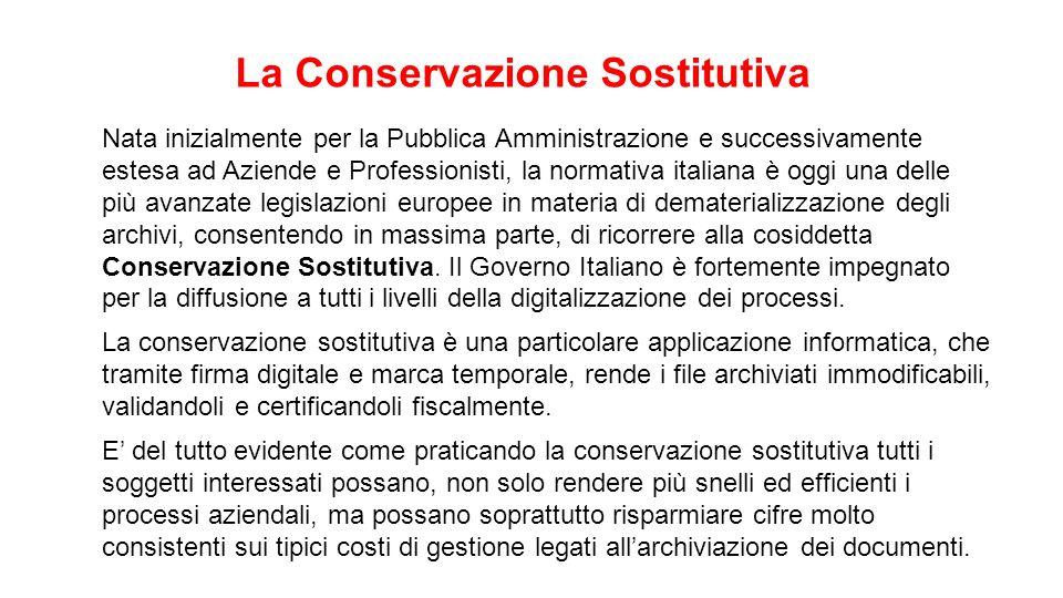 Nata inizialmente per la Pubblica Amministrazione e successivamente estesa ad Aziende e Professionisti, la normativa italiana è oggi una delle più ava