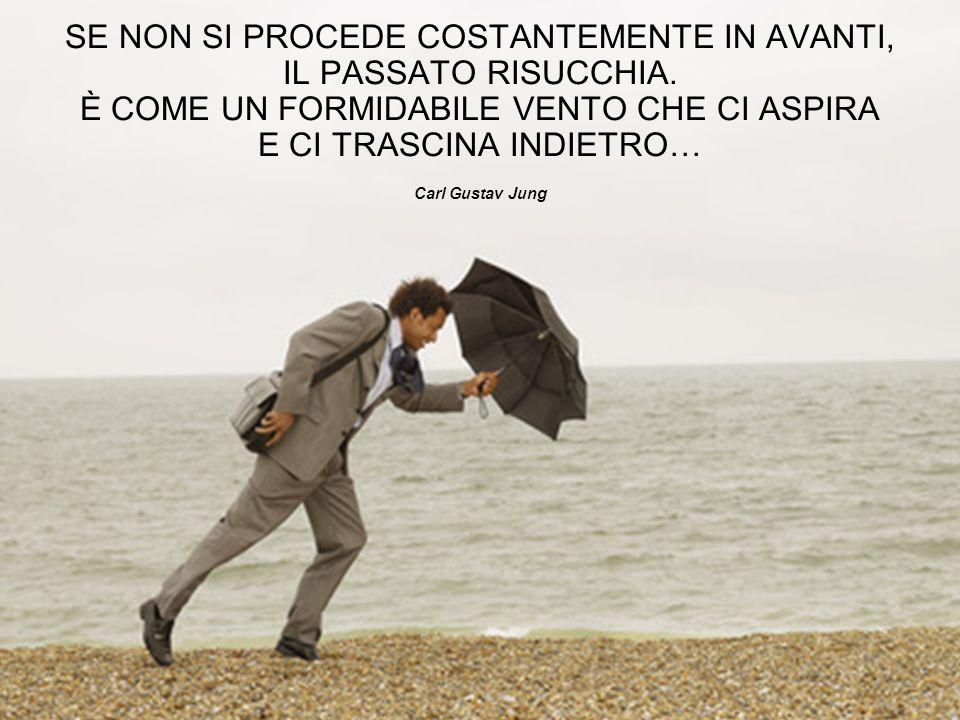 SE NON SI PROCEDE COSTANTEMENTE IN AVANTI, IL PASSATO RISUCCHIA. È COME UN FORMIDABILE VENTO CHE CI ASPIRA E CI TRASCINA INDIETRO… Carl Gustav Jung