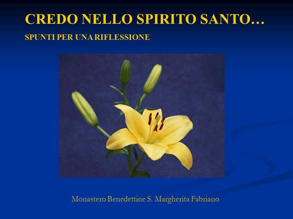 CREDO NELLO SPIRITO SANTO… SPUNTI PER UNA RIFLESSIONE Monastero Benedettine S. Margherita Fabriano
