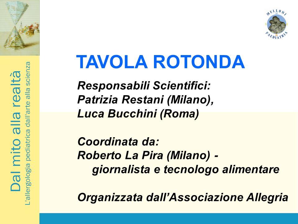 TAVOLA ROTONDA Responsabili Scientifici: Patrizia Restani (Milano), Luca Bucchini (Roma) Coordinata da: Roberto La Pira (Milano) - giornalista e tecnologo alimentare Organizzata dallAssociazione Allegria
