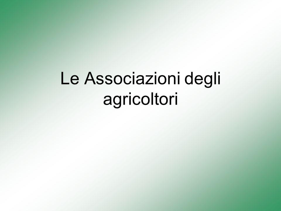Le Associazioni degli agricoltori