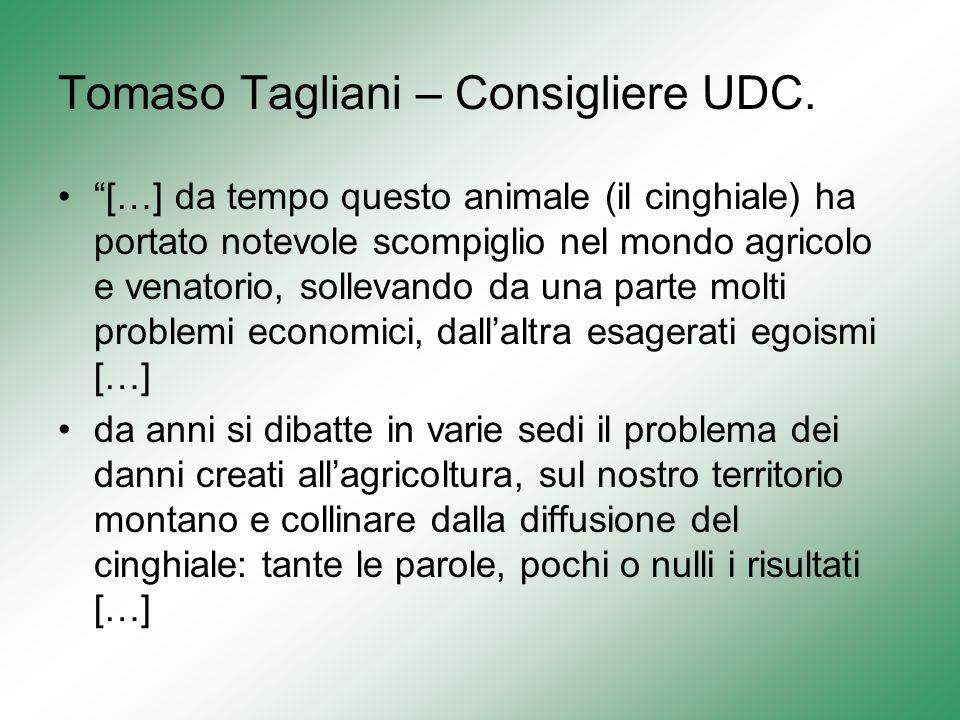 Tomaso Tagliani – Consigliere UDC.