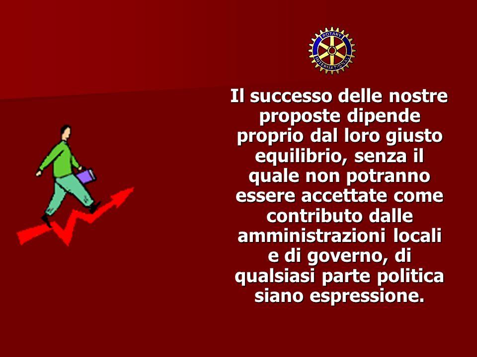 Il successo delle nostre proposte dipende proprio dal loro giusto equilibrio, senza il quale non potranno essere accettate come contributo dalle ammin