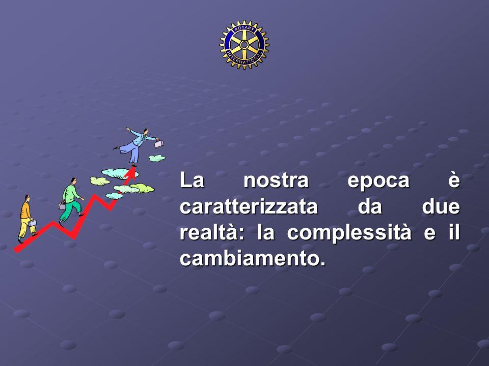 La nostra epoca è caratterizzata da due realtà: la complessità e il cambiamento. La nostra epoca è caratterizzata da due realtà: la complessità e il c