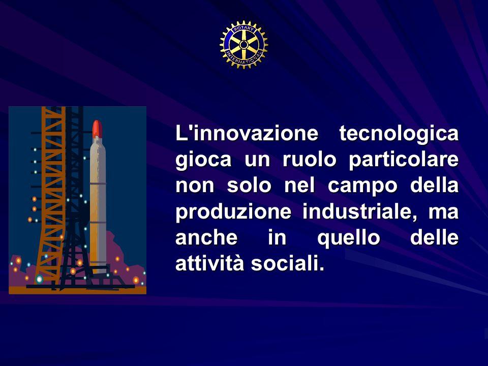 L'innovazione tecnologica gioca un ruolo particolare non solo nel campo della produzione industriale, ma anche in quello delle attività sociali. L'inn