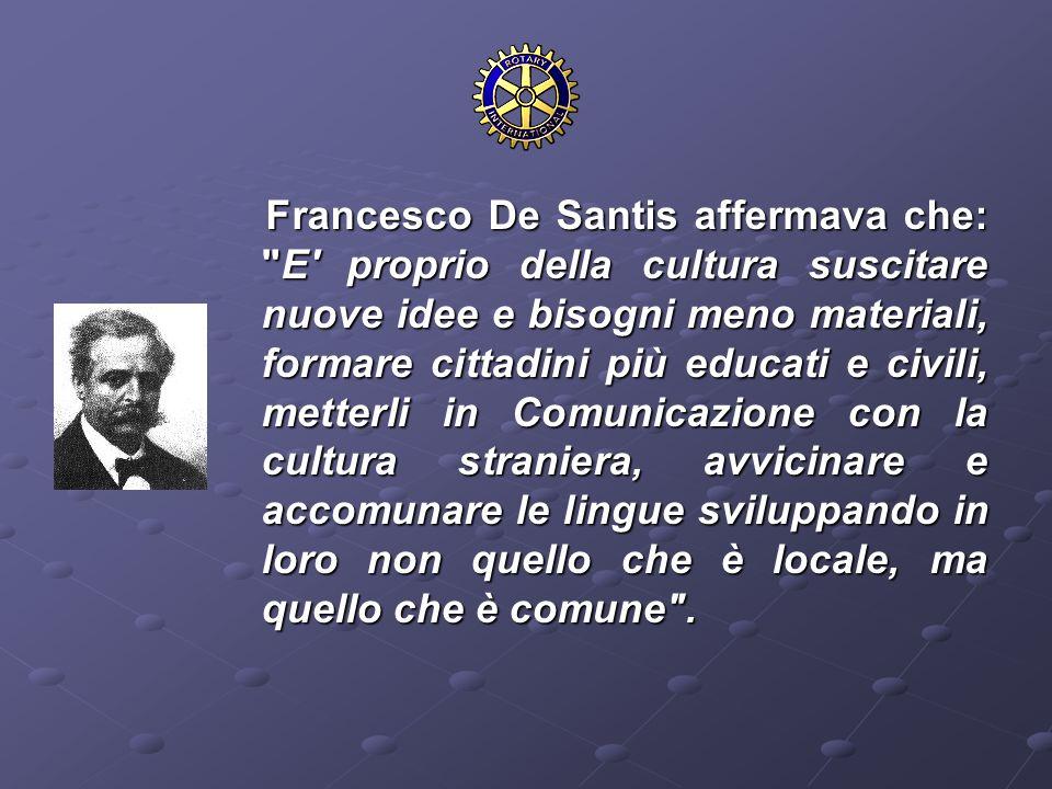 Francesco De Santis affermava che: