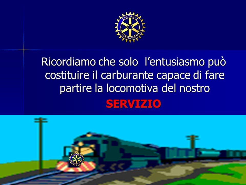 Ricordiamo che solo lentusiasmo può costituire il carburante capace di fare partire la locomotiva del nostro Ricordiamo che solo lentusiasmo può costi