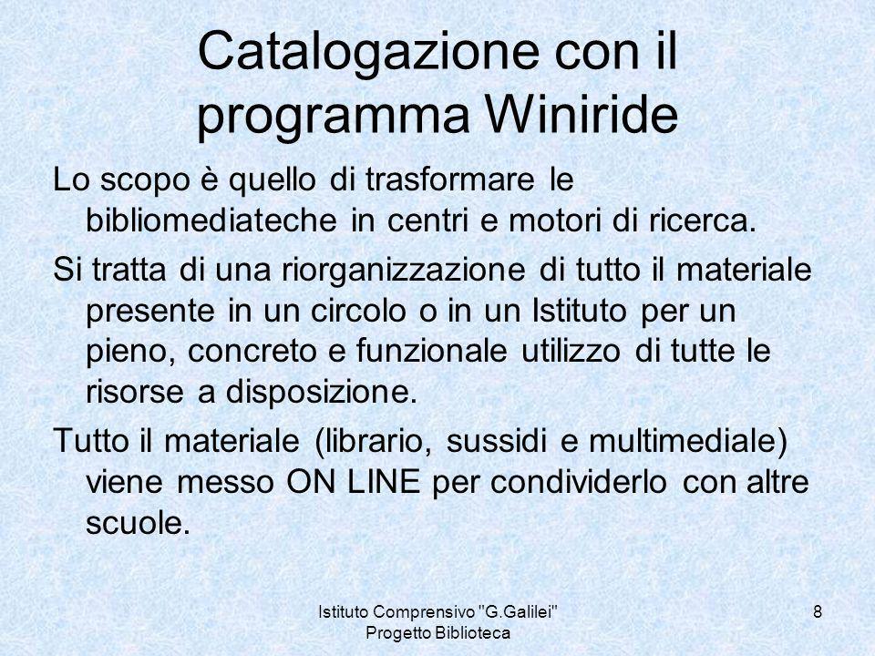 Istituto Comprensivo G.Galilei Progetto Biblioteca 9 Cosa sono i thesauri.