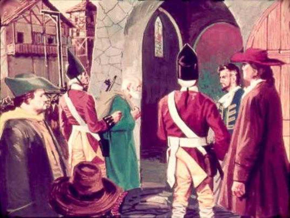 Rinchiuso nella torre della prigione, in attesa della fine, prese a lamentarsi con la Santa Vergine. Perché gli era serbato un così triste destino? Pe