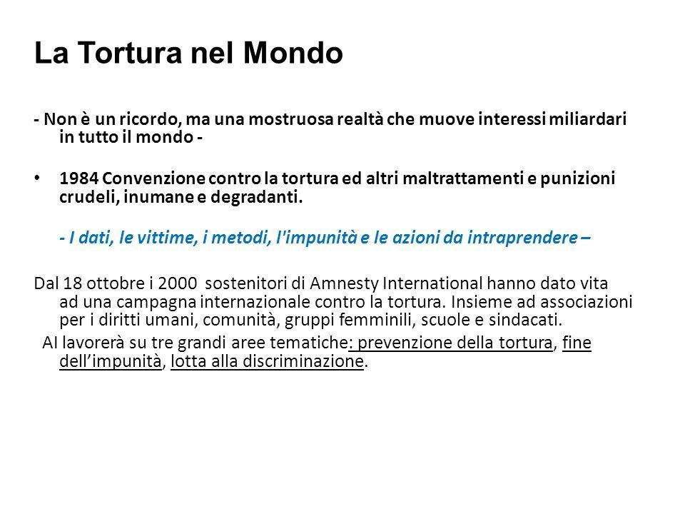 La Tortura nel Mondo - Non è un ricordo, ma una mostruosa realtà che muove interessi miliardari in tutto il mondo - 1984 Convenzione contro la tortura