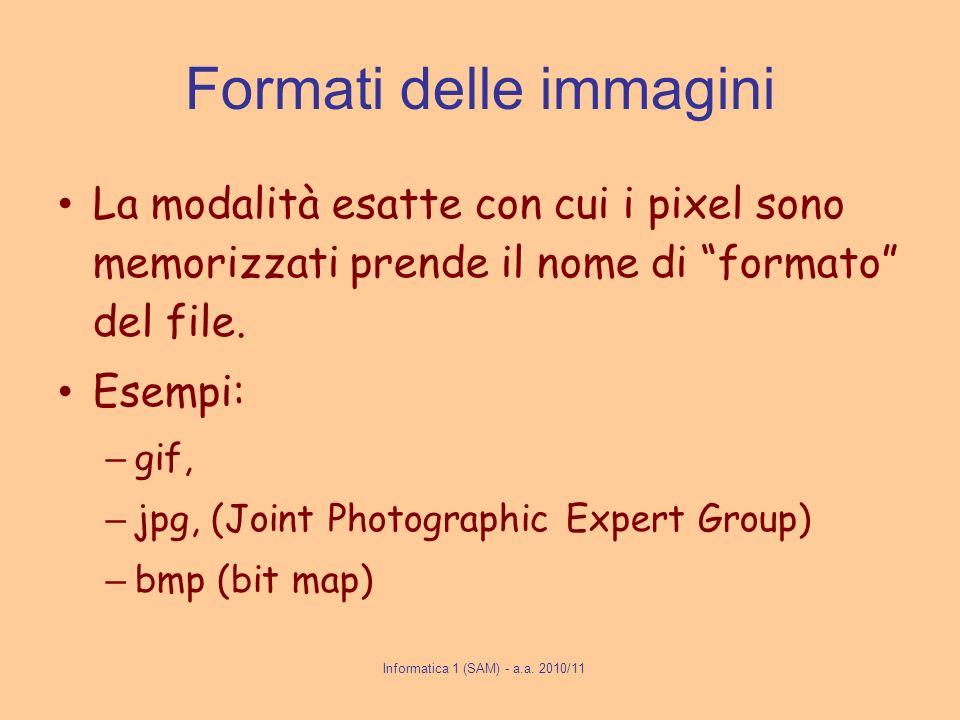Informatica 1 (SAM) - a.a.