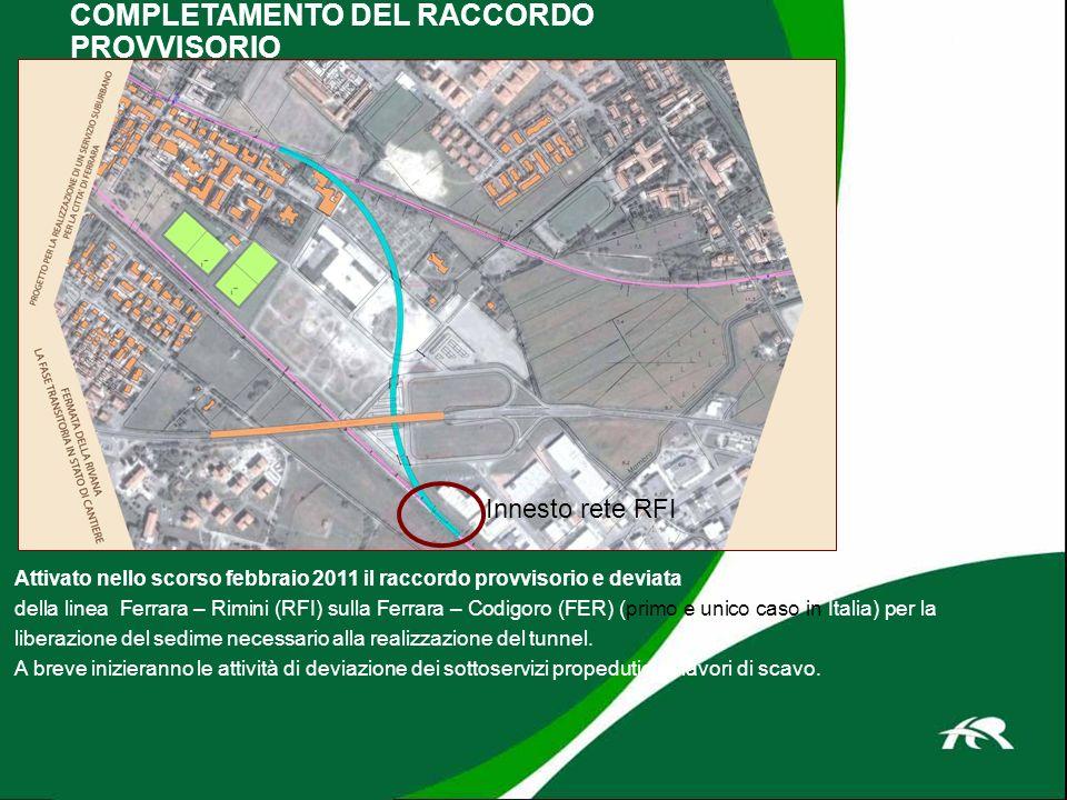 Attivato nello scorso febbraio 2011 il raccordo provvisorio e deviata della linea Ferrara – Rimini (RFI) sulla Ferrara – Codigoro (FER) (primo e unico