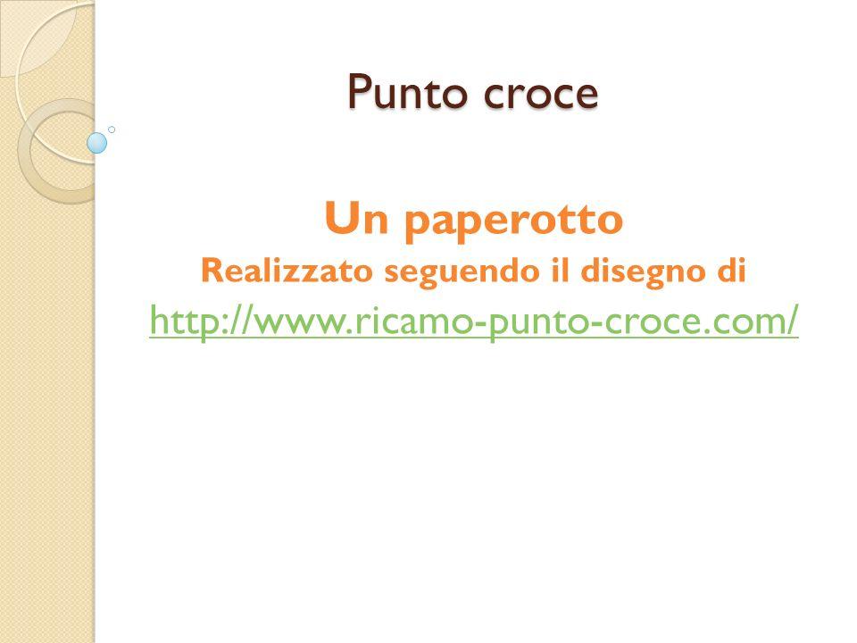 Punto croce Un paperotto Realizzato seguendo il disegno di http://www.ricamo-punto-croce.com/