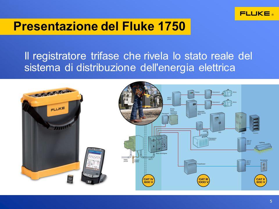 5 Presentazione del Fluke 1750 Il registratore trifase che rivela lo stato reale del sistema di distribuzione dell energia elettrica