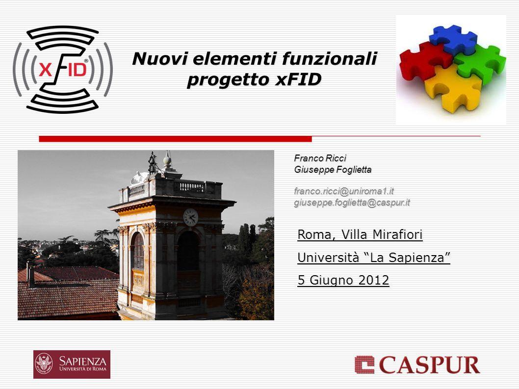 Controllo Accessi (I) Villa Mirafiori – Giugno 2012 È necessario uno o più reader RFID.
