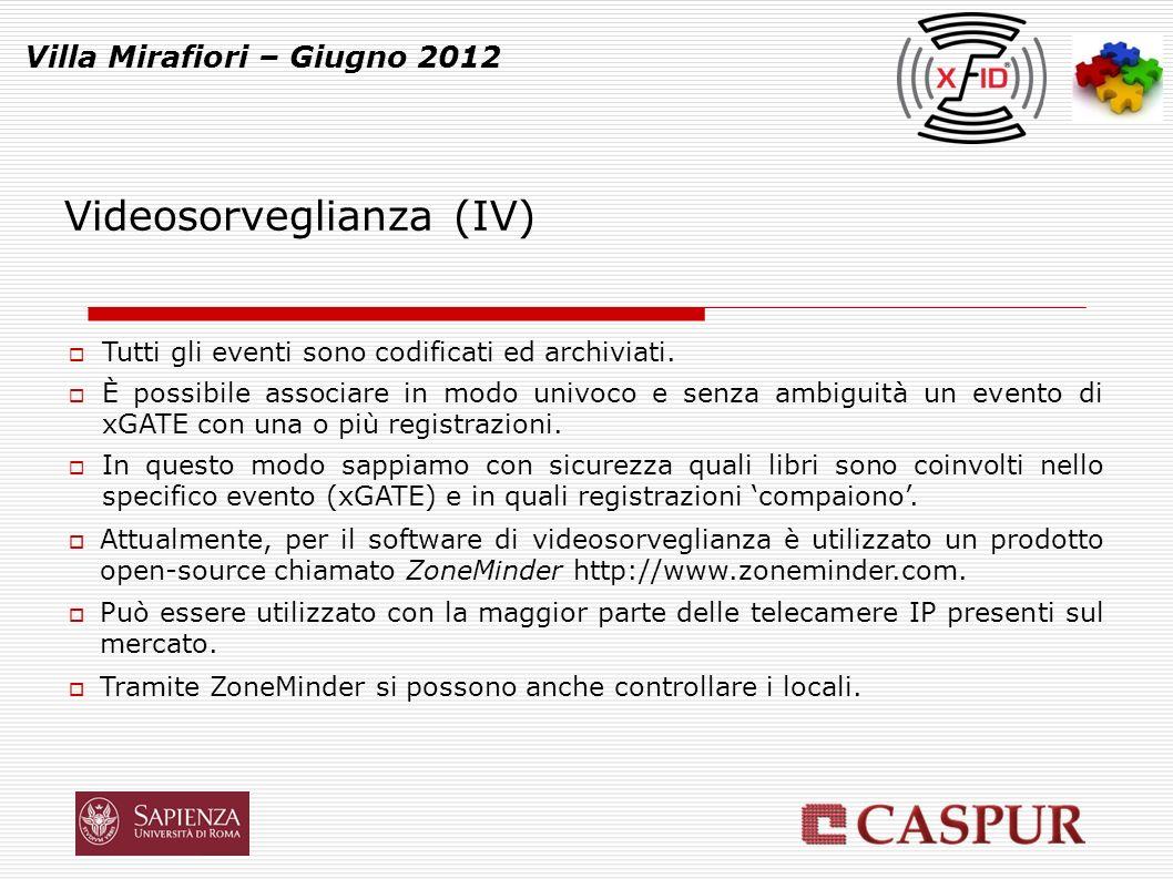 xGate Villa Mirafiori – Giugno 2012 Codice allarme