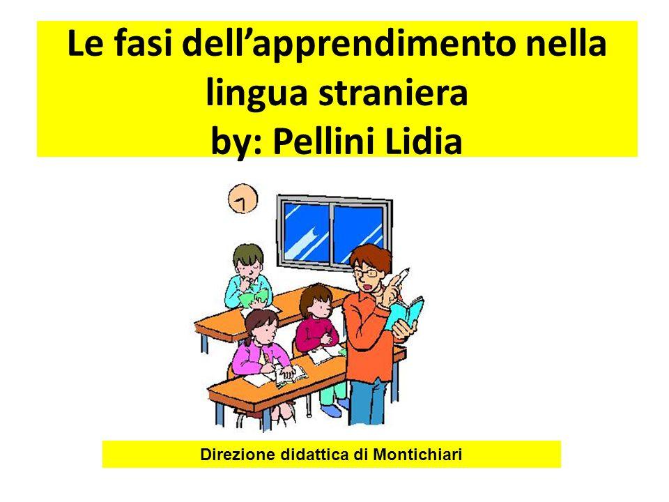 Le fasi dellapprendimento nella lingua straniera by: Pellini Lidia Direzione didattica di Montichiari