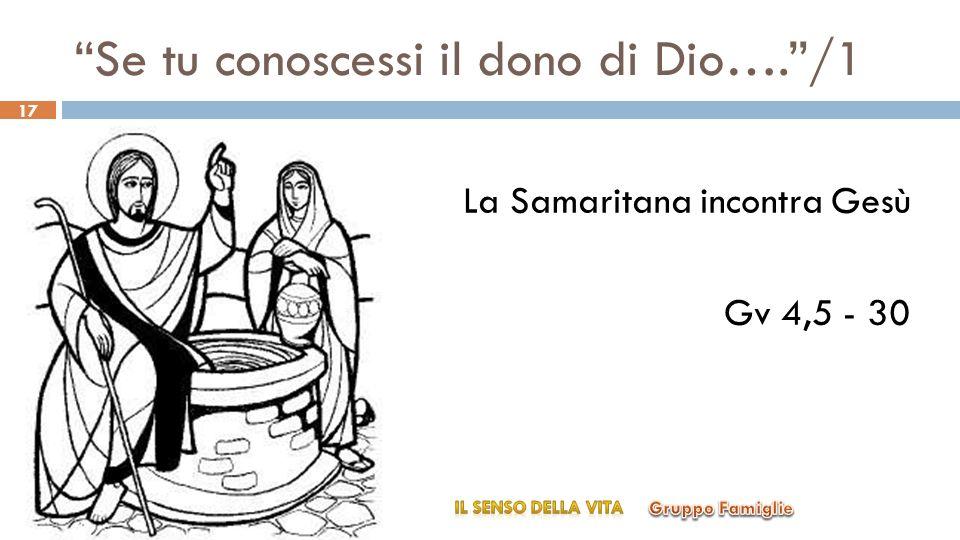 Se tu conoscessi il dono di Dio…./1 La Samaritana incontra Gesù Gv 4,5 - 30 17