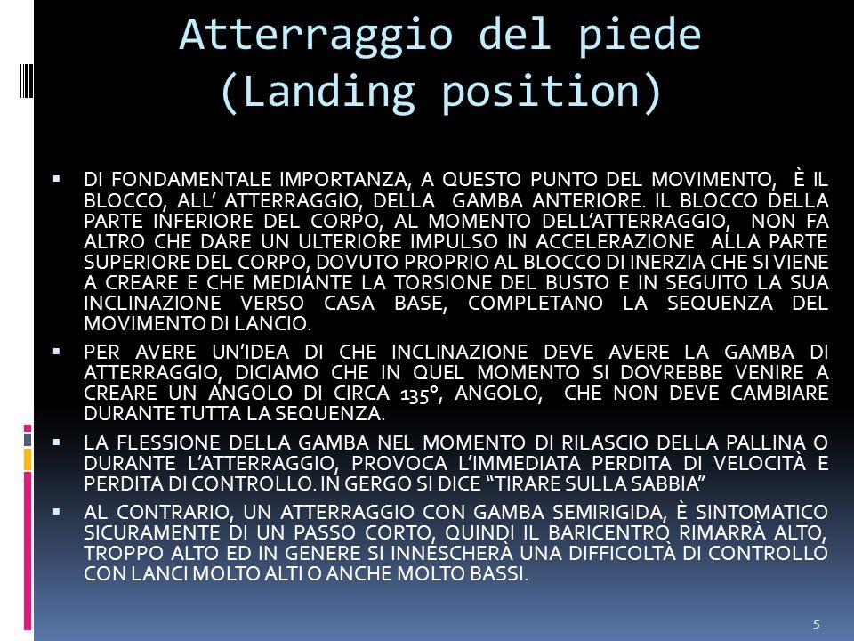 5 Atterraggio del piede (Landing position) DI FONDAMENTALE IMPORTANZA, A QUESTO PUNTO DEL MOVIMENTO, È IL BLOCCO, ALL ATTERRAGGIO, DELLA GAMBA ANTERIORE.
