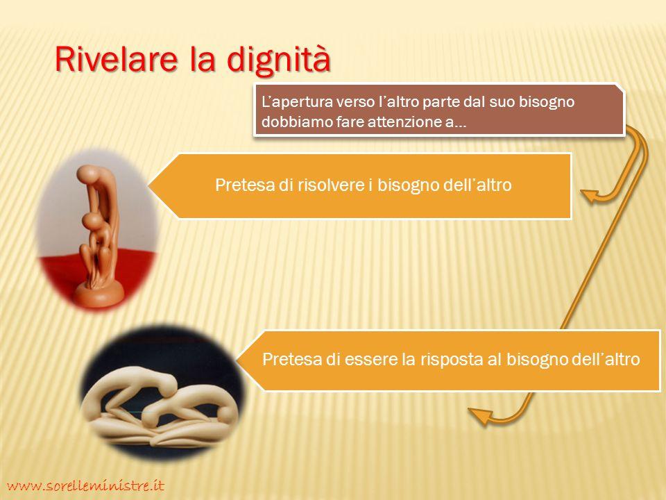 Rivelare la dignità www.sorelleministre.it