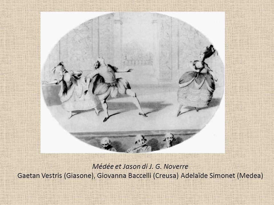 Médée et Jason di J. G. Noverre Gaetan Vestris (Giasone), Giovanna Baccelli (Creusa) Adelaïde Simonet (Medea)