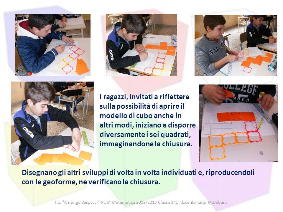 I.C. Amerigo Vespucci PQM Matematica 2012/2013 Classe 3^C docente tutor M.Babusci